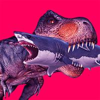 霸王龙大战食人鲨