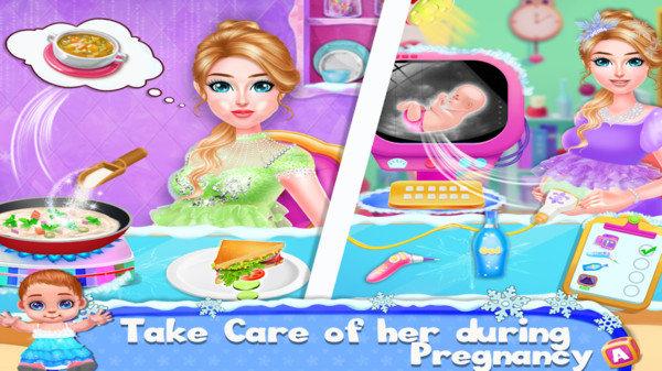 冰雪公主怀孕妈妈
