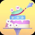 蛋糕世界女孩的烹饪