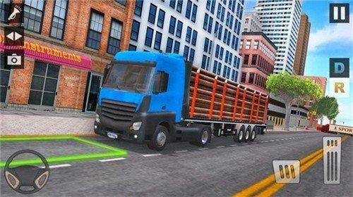 城市运输卡车停车场