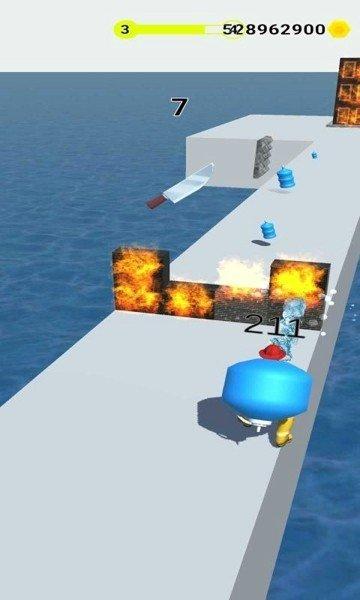 消防员灭火