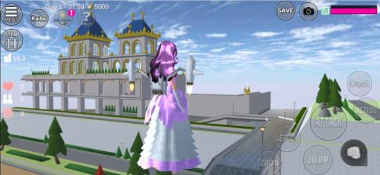 樱花校园模拟器更新了衣服和城堡